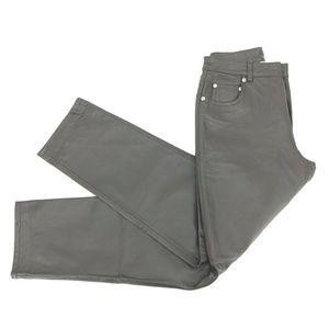 Newport News Jeanology Lined Leather Pants Sz 6P